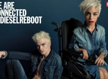 Jillian Mercado modella con disabilità per Diesel