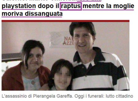 """Il termine """"raptus"""" nelle aule di giustizia, in psichiatria e nei media"""