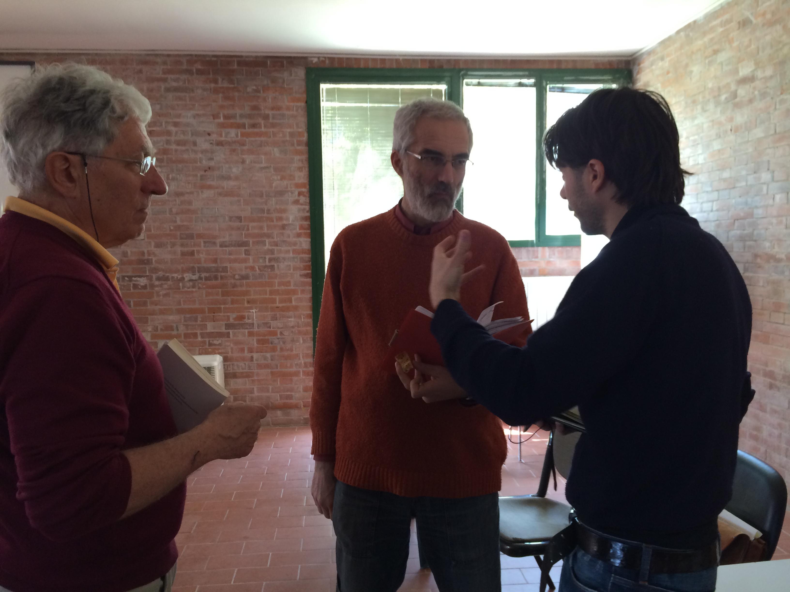 Riccardo e Daniele con Beppe pavan