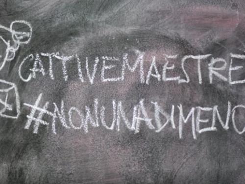 #Nonunadimeno Le Cattive Maestre invitano il mondo della scuola a esserci